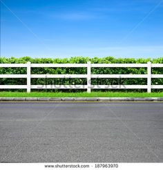 white fence and boxwoods - Google Search
