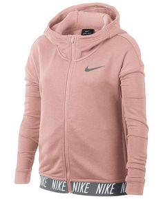Nike big girls zip-up dry training hoodie Nike Hoodie, Nike Jacket, Nike Outfits, Sport Outfits, Nike Zip Up, Fitness Fashion, Cute Nikes, Zip Ups, Cristiano Ronaldo