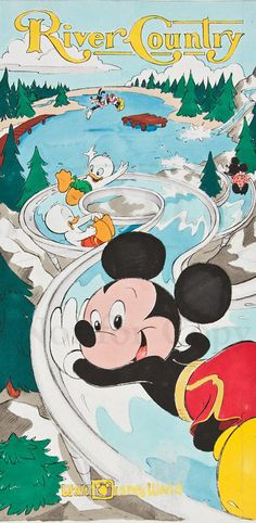 disney park posters 1980 | The uniqueness of the park during its early days was one reason for ...
