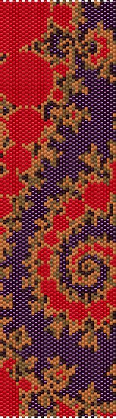 Purple Spiral Peyote Cuff Beaded Bracelet por RubyDsArtandJewelry
