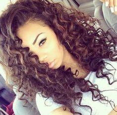 Got curly hair and looking for a stylish hairstyle ideas? Here in this gallery we have collected Pretty Curly Hairstyles for Women that you will adore! Curled Hairstyles, Weave Hairstyles, Pretty Hairstyles, Big Hair, Your Hair, Curly Hair, Curly Wigs, Curly Perm, Spiral Curls