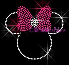 Hey, I found this really awesome Etsy listing at http://www.etsy.com/listing/151379338/hot-pink-bow-minnie-iron-on-rhinestone