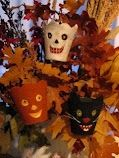 little peat pots covered in felt #Halloween #crafts