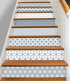 Bandes de 15steps escalier Riser vinyle autocollant amovible