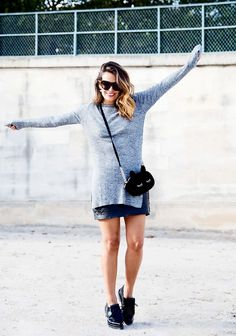 grey sweater for fall