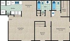 The Willow Floor Plan at The Arbors Of Corsicana in Corsicana, TX