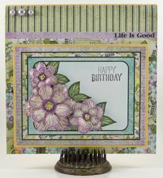 Botanical Roses Birthday Card by Candy S. - Cards and Paper Crafts at Splitcoaststampers