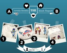 Amelia Bedelia - the book report (Canva & Thinglink) by @Tech