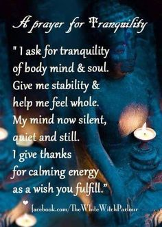 Prayer for tranquility