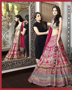 OMG I am in love with the design and colors of this lengha!!!!! Super cute!