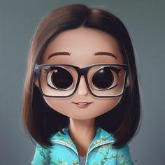 17 Ideas for illustration art girl painting drawings Kawaii Girl Drawings, Cute Girl Drawing, Girly Drawings, Cartoon Girl Drawing, Cartoon Drawings, Cartoon Art, Character Design Cartoon, Cute Cartoon Girl, Painting Of Girl
