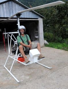 #Turkish #electrician Saffet Arslan from Artvin'in Arhavi builds a #helicopter in his #garage #DIY #Selfmade #Helikopter
