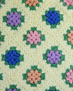 Maggie's Crochet · Vintage Granny Popcorn Afghan Crochet Pattern