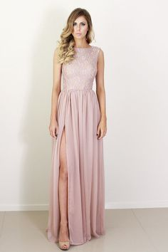 Blush-silk-and-lace-bridesmaid-dress.full