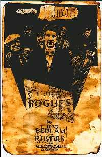 The Pogues & The Bedlam Rovers - 1987 Fillmore Poster The Pogues, Bands, California, Movie Posters, Movies, Art, Art Background, Films, Film Poster