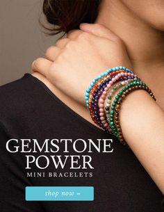 Gemstone Power Mini Bracelets- Right Side Banner