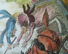 This is one of a small selection of original Georgian / Regency etched satirical prints that I have in my Etsy shop. They are good quality items by George Cruikshank from aournd the 1820s. My prints are slightly later antique re-prints from the original plates and these were all published by Thomas McLean for the second and final edition, 1835 (as annotated below).  They are hand-tinted with watercolour. Each of my prints is identically framed - with a fine new & good quality frame -...