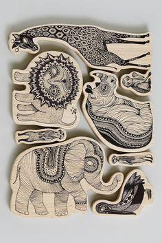 Tipo de dibujo. Mini Empire Wooden Animals Africa   The KID Who