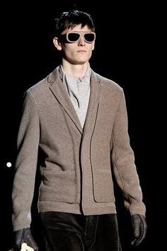 half blazer, half cardigan, total mod. Louis Vuitton mens fashion. would die for this in black.