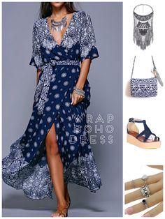 Boho jewellery and bags. Gypsy Style, Bohemian Style, Boho Jewellery, Magazine Articles, Summer Trends, Summer 2016, Boho Dress, Online Shopping, Wrap Dress