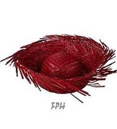 Red Adult's Straw Beachcomber Hat
