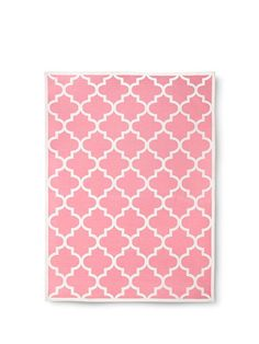 An area rug adds comfort & style to your baby's nursery. Try one with a geometric pattern in a pretty pink.