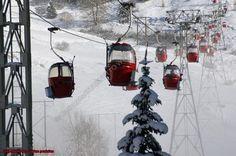 Télécabine aux 2 Alpes Banque d'images Photographies de montagne