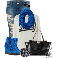 """The Wedge Sneaker"" by wuzzyswardrobe on Polyvore"