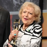 Actress Betty White at her National association of Broadcasters Hall of Fame induction ceremony on April 17, 2012.