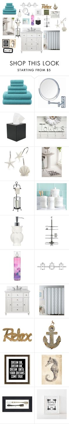 """My Dream Bathroom"" by graceltruong ❤ liked on Polyvore featuring interior, interiors, interior design, home, home decor, interior decorating, JCPenney Home, Jerdon, Royce Leather and Avanti"