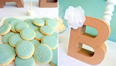 Mint and Yellow Baby Shower Guest Dessert Feature | Amy Atlas Events