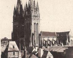 Postcard Quimper (Finistere) La Cathedrale Vintage  Postcard by attictreasuresbyjudy. Explore more products on http://attictreasuresbyjudy.etsy.com