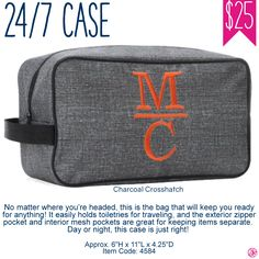 Thirty-One 24/7 Case - Charcoal Crosshatch - Spring/Summer 2017