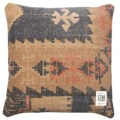 Vintage Storebror – Printed Cushion #vintage #kussen #vloerkledenloods
