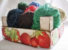 alaprestatgeria: Decoupage en una caja de frutas