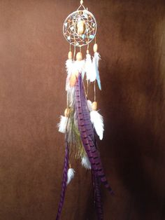 DIY dreamcatcher..would look cute in a college dorm