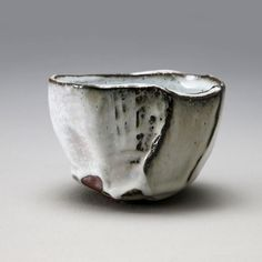 Kaneta, Masanao, Kaneta Masanao, teabowl, chawan, white, hagi, glaze, glazed, kiln, effect, mountain, kurinuki, carved, 2014, stoneware, black, ceramics, clay, contemporary, traditional, Japan, Japanese, Japanese ceramics, pottery