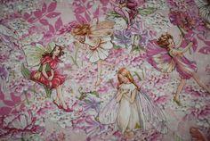 Michael Miller Petal Flower Fairies Pink by Loriscountryfabrics, $9.95