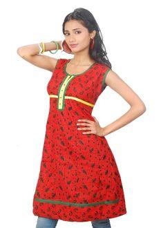 Kriaa Women's Kurti - Red