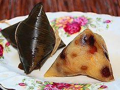 田园时光美食  粽子(台式肉粽、糯米豆棕及四种粽子包法)Rice dumplings(Zongzi)