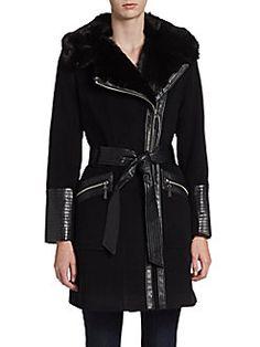 Via Spiga - Faux Fur Collar Coat $223.99 and free shipping