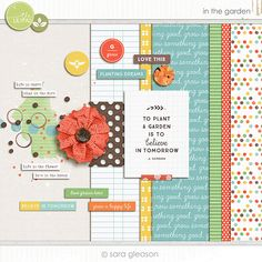 Quality DigiScrap Freebies: In The Garden mini kit freebie from Sara Gleason