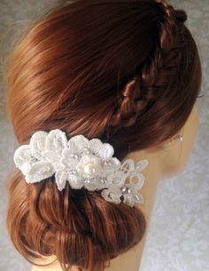 Wedding Hair Accessories wedding ivory by svitlanasbridalveils