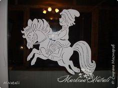 Картина панно рисунок Новый год Вырезание Сказка в дом приходит  Бумага
