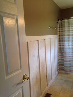 Cutting Edge Stencils + DIY board and batten = FABULOUS bathroom! | Hometalk