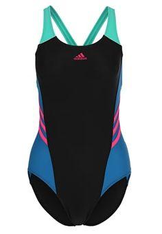 Swimsuit - black/unity blue/shock pink