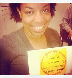 Amy enjoying her I Am A Survivor(70 days to positive thinking) by Carleta Smith book... smile for the camera sweety... :)