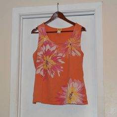 Ruby Rd. Tank Top Bold flower print tank top!!!  Great for Summer!!!  Small stain as noted in last photo. Ruby Rd. Tops Tank Tops