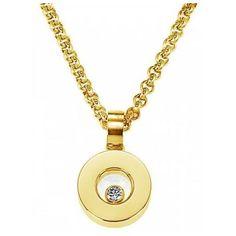 Chopard Pendentif Happy Diamonds La grande marque Chopard présente sa collection Chopard Pendentif Happy Diamonds. Ce modèle est fait en or jaune de 18 carats et compl&e...