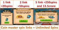 IN Tit I always need spins to move further in the game but unfortunately game gives us 5 spin per hour which is insufficient for us. We share Coin master 70 spins link we rarely when something big happening. Free Casino Slot Games, Free Games, Hov Free Coins, Master App, Free Rewards, Daily Rewards, Buy Coins, Coin Master Hack, Game Codes